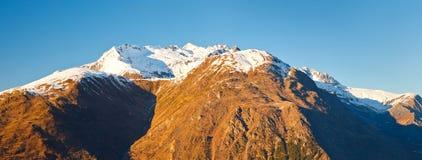 Alpi francesi al tramonto Fotografie Stock Libere da Diritti