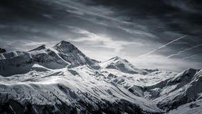 Alpi francesi in bianco e nero Fotografie Stock