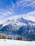Alpi francesi a Chamonix Mont Blanc Fotografia Stock