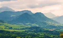 Alpi francesi con le montagne Julioz e Trelod Immagine Stock