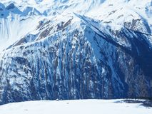 Alpi francesi coperte di neve Fotografie Stock