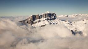 Alpi francesi dall'aeroplano Fotografia Stock Libera da Diritti