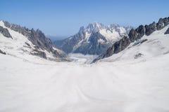 Alpi francesi, massiccio di Mont Blanc, Chamonix-Mont-Blanc Fotografia Stock Libera da Diritti