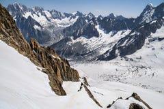Alpi francesi, massiccio di Mont Blanc, Chamonix-Mont-Blanc Fotografie Stock