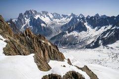 Alpi francesi, massiccio di Mont Blanc, Chamonix-Mont-Blanc Fotografia Stock