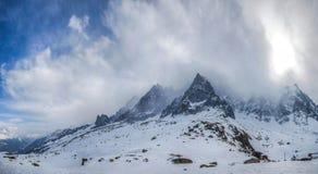 Alpi francesi - massiccio II di Mont Blanc Fotografie Stock
