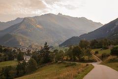 Alpi francesi, montagne di Vanoise ad alba Fotografia Stock Libera da Diritti