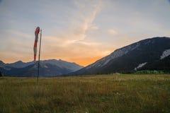 Alpi francesi, montagne di Vanoise ad alba Fotografia Stock