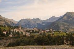Alpi francesi, montagne di Vanoise ad alba Immagini Stock Libere da Diritti