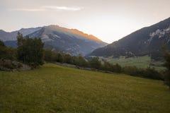 Alpi francesi, montagne di Vanoise ad alba Immagine Stock Libera da Diritti