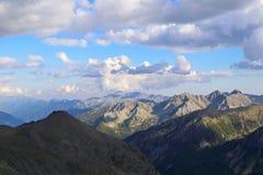 Alpi francesi Paesaggio della montagna Fotografia Stock
