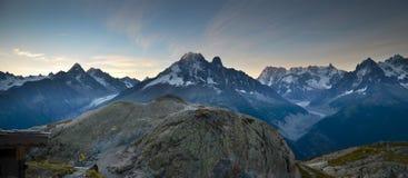 Alpi francesi panoramiche Fotografie Stock