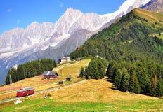 Alpi francesi su estate Fotografia Stock