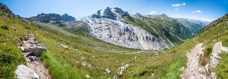 Alpi, Francia (Pateau du Trient) - panorama Fotografie Stock Libere da Diritti