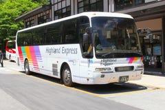 Alpi giapponesi di trasporto dell'autobus espresso dell'altopiano, Giappone Immagini Stock Libere da Diritti