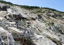 Alpi glace di Mer du il Monte Bianco Chamonix-Mont-Blanc francesi Immagine Stock Libera da Diritti
