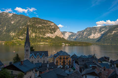 Alpi Hallstatt Fotografia Stock Libera da Diritti
