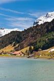 Alpi innevate Immagine Stock