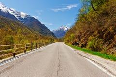 Alpi innevate Fotografia Stock