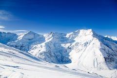 Alpi in inverno Fotografie Stock Libere da Diritti