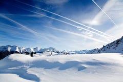Alpi in inverno Fotografie Stock