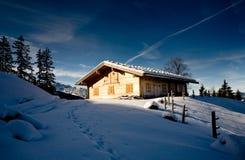 Alpi in inverno Immagini Stock