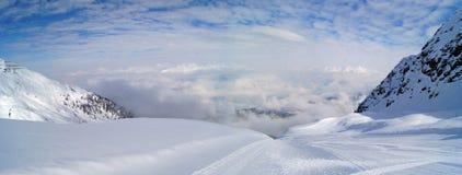 Alpi in inverno Immagine Stock