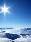 Alpi in inverno Fotografia Stock