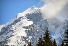Alpi inverno, dolomia, Italia, 2007 Immagine Stock