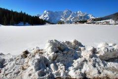 Alpi inverno, dolomia, Italia, 2007 Fotografia Stock Libera da Diritti