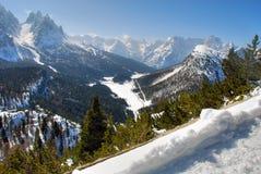 Alpi inverno, dolomia, Italia, 2007 Immagini Stock Libere da Diritti