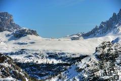 Alpi inverno, dolomia, Italia, 2007 Immagine Stock Libera da Diritti