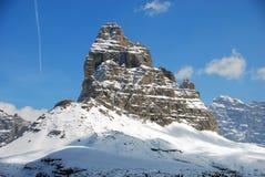 Alpi inverno, dolomia, Italia, 2007 Immagini Stock