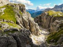 Alpi Italia della dolomia Fotografie Stock Libere da Diritti