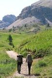 Alpi Italia di Dolomti di trekking Immagine Stock Libera da Diritti