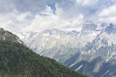 Alpi italiane da Vipiteno - Vipiteno Alto Adige, Bolzano Fotografie Stock