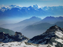 Alpi italiane dalla capanna di Torino Immagine Stock Libera da Diritti