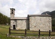 Alpi italiane della chiesa di pietra, Italia Fotografia Stock