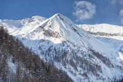 Alpi italiane della montagna nell'inverno Fotografie Stock