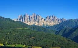 Alpi italiane delle dolomia Immagini Stock