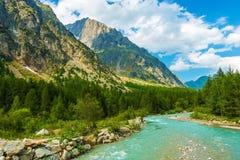 Alpi italiane Doire Baltee Fotografia Stock
