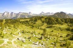 Alpi italiane, dolomia Immagini Stock Libere da Diritti