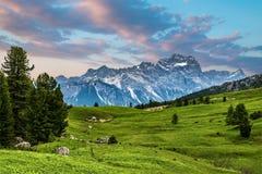 Alpi italiane famose delle dolomia Immagini Stock Libere da Diritti
