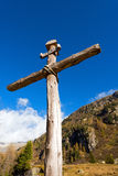 Alpi italiane inter- di legno Immagini Stock