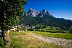 Alpi italiane - lo Sciliar Immagini Stock Libere da Diritti