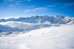 Alpi italiane nell'inverno Immagine Stock Libera da Diritti