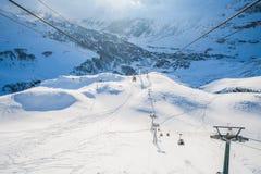 Alpi italiane nell'inverno Fotografie Stock Libere da Diritti