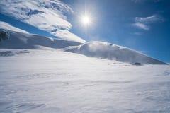 Alpi italiane nell'inverno Fotografia Stock Libera da Diritti