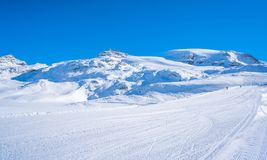 Alpi italiane nell'inverno Immagine Stock