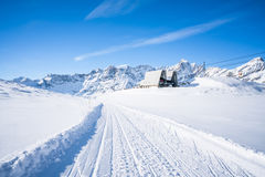 Alpi italiane nell'inverno Fotografia Stock